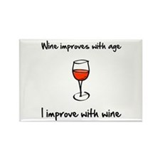 Cute Red wine Rectangle Magnet