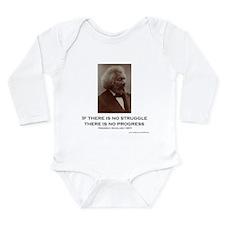 """Struggle and Progress Long Sleeve Infant Bodysuit"