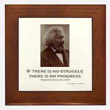 """""""Struggle And Progress"""" Framed Tile"""