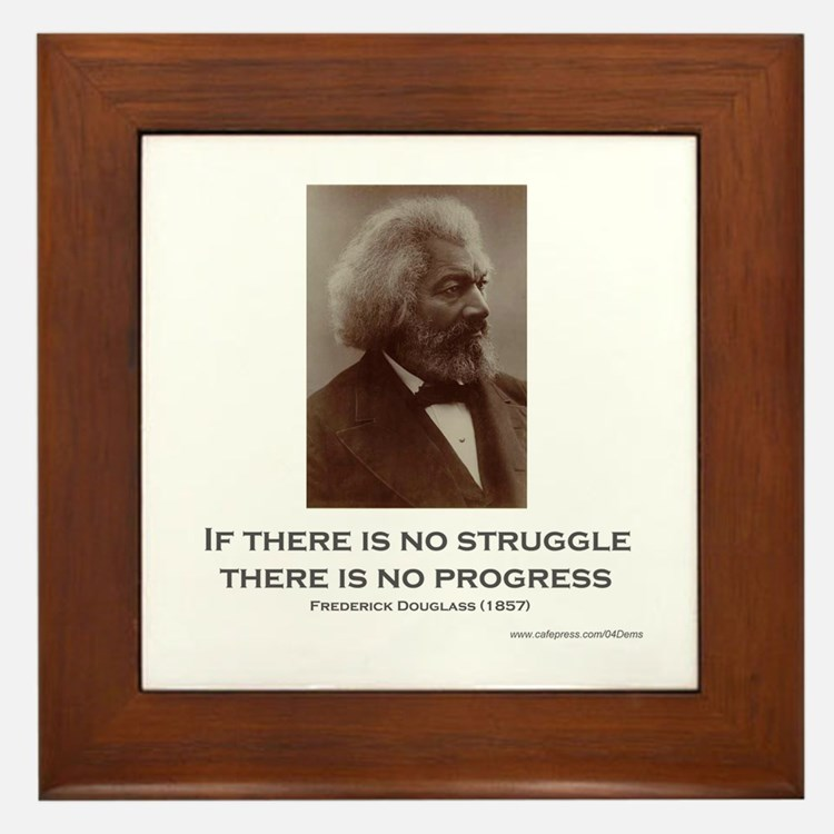 """Struggle And Progress"" Framed Tile"