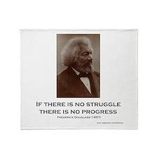 """Struggle And Progress"" Throw Blanket"