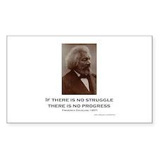 """Struggle And Progress"" Sticker (rectang"