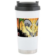Music, beachparty with clef Travel Mug
