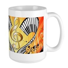 Music, beachparty with clef Mugs