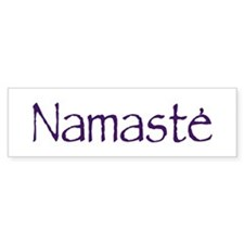 Namaste in Sacred Purple Bumper Bumper Sticker