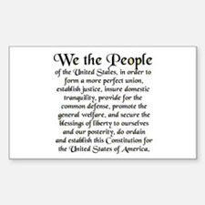 We the People US Sticker (Rectangle)