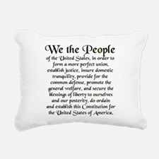 We the People US Rectangular Canvas Pillow