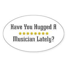 Hugged Musician Oval Decal