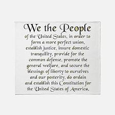 We the People US Throw Blanket