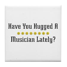 Hugged Musician Tile Coaster