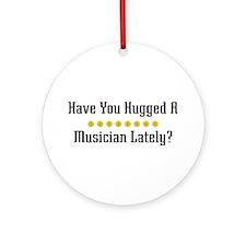 Hugged Musician Ornament (Round)