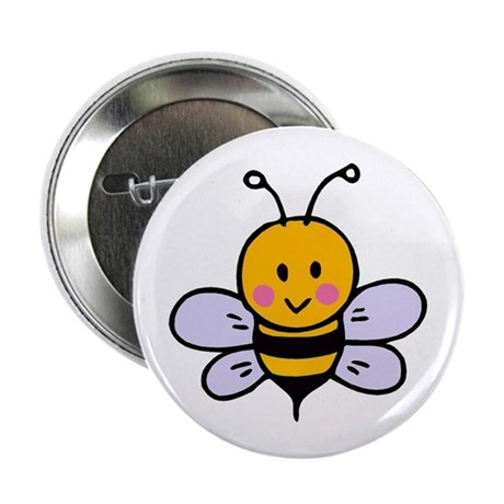 "Cute Bee 2.25"" Button (100 pack)"