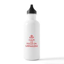 Cute Summarized Water Bottle