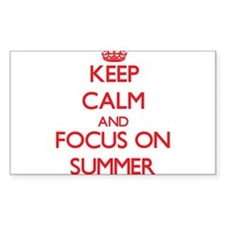 Keep Calm and focus on Summer Decal