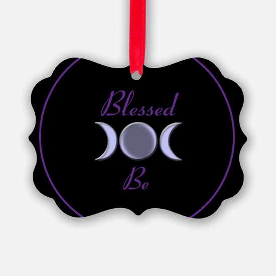 Blessed Be Triple Moon Goddess Ornament