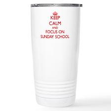 Cute I love sunday school Travel Mug