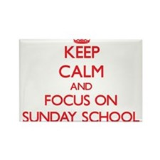 Keep Calm and focus on Sunday School Magnets