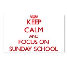 Keep Calm and focus on Sunday School Decal