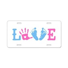 Love Baby Aluminum License Plate