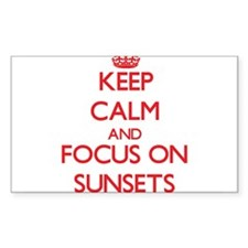 Keep Calm and focus on Sunsets Decal
