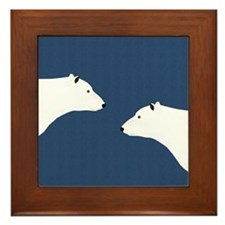 Polar Bears Framed Tile
