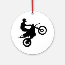 Motor cross Round Ornament
