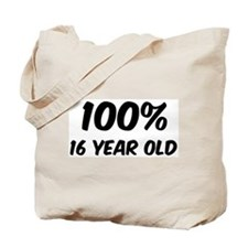 100 Percent 16 Year Old Tote Bag