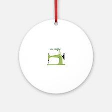 Sew Crafty Ornament (Round)