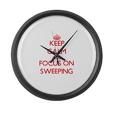 Cute Sweeping Large Wall Clock