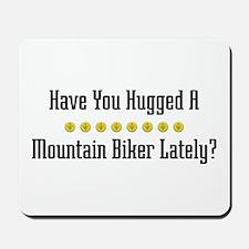 Hugged Mountain Biker Mousepad
