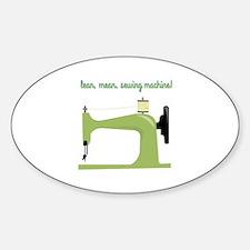 Lean, Mean Sewing Machine! Decal