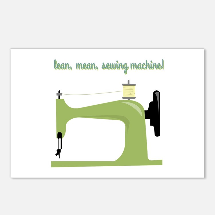 Lean, Mean Sewing Machine! Postcards (Package of 8