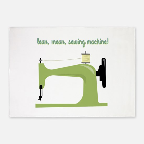 Lean, Mean Sewing Machine! 5'x7'Area Rug