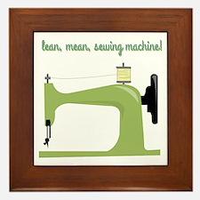 Lean, Mean Sewing Machine! Framed Tile