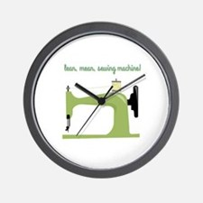 Lean, Mean Sewing Machine! Wall Clock