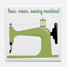 Lean, Mean Sewing Machine! Tile Coaster