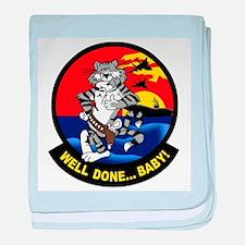 Funny F14 tomcat baby blanket