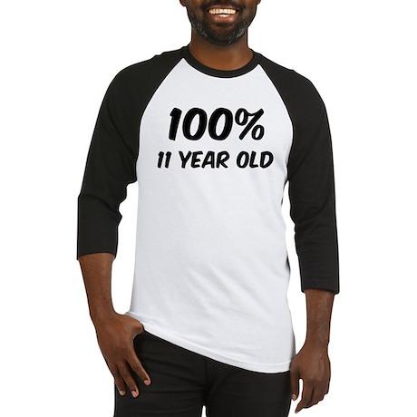 100 Percent 11 Year Old Baseball Jersey