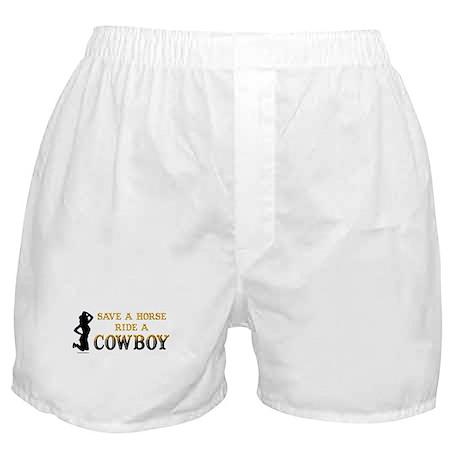 Save a horse, ride a cowboy Boxer Shorts