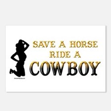 Save a horse, ride a cowboy Postcards (Package of