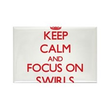 Keep Calm and focus on Swirls Magnets