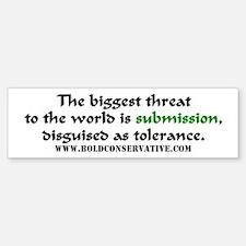'Submission as Tolerance' BumperBumper Bumper Sticker
