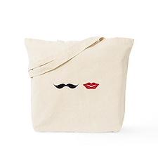 Mustache & Lips Tote Bag