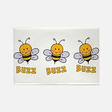 Buzz Buzz Bee Rectangle Magnet