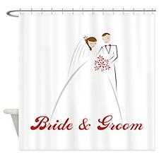 Bride & Groom Shower Curtain