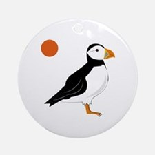 Puffin Bird Ornament (Round)