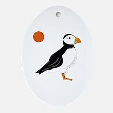 Puffin Bird Ornament (Oval)