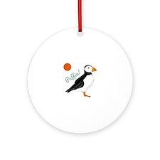 Puffin! Bird Ornament (Round)