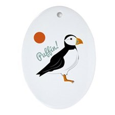 Puffin! Bird Ornament (Oval)