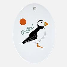 Puffin! Bird Ornament (Oval)